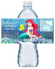 20 LITTLE MERMAID ARIEL BIRTHDAY ~ WATER BOTTLE LABELS ~ sea design