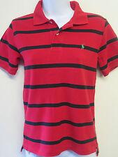 Genuine Vintage Ralph Lauren POLO Red Hoop Short Sleeved Polo Shirt UK 8 Euro 36