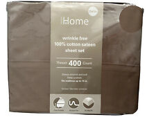 Home Design 100% Cotton Sateen Sheet Set Thread 400 Count