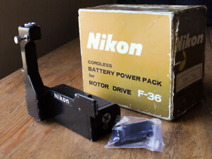 Nikon Cordless Battery Pack Grip for F36 Motor Drive Working Type 2 in box F-36