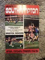 Southampton v Bristol Rovers - Football League Cup 2nd Rnd 1975/76 Programme