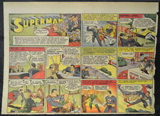 SUPERMAN SUNDAY COMIC STRIP #26 April 28, 1940 2/3 FULL Page DC Comics RARE