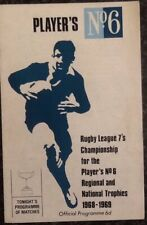 RUGBY LEAGUE PROGRAMME PLAYER'S No6 7s CHAMPIONSHIP