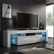TV Stand Cabinet Entertainment Center Media Console 2 Shelves w/ RGB LED Lights