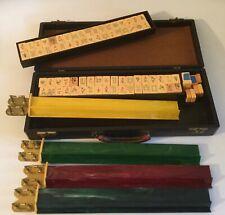Vintage Bakelite Mahjong Set 4 Racks Mah Jong 156 pieces