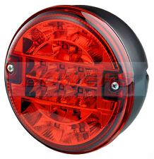 12V/24V VOLT LED REAR ROUND HAMBURGER FOG LAMP LIGHT CARAVAN TRAILER TRUCK LORRY