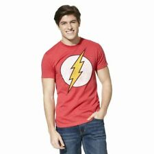 Men's Official DC Comics The Flash Logo T~Shirt - Red -  Size SM