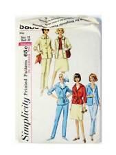1965 Simplicity 5883 Size 12 Jacket, Slacks, Skirt Pattern, Uncut Original Folds