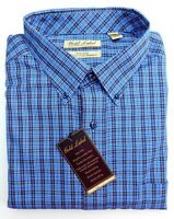 NWT Gold Label Roundtree Yorke Blue Yellow Check LS Men Shirt Big Tall Many Size