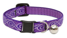 """All Patterns Lupine Cat or Kitten 1/2"""" Nylon w/Breakaway Buckle Collar with Bell"""