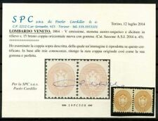 Lombardo Veneto 1863 Sass. 45 Nuovo * 100% Cardillo Certificato