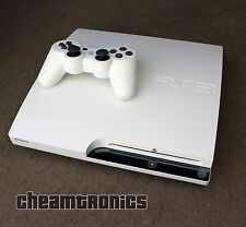 Sony PS3 Slim 250GB System Firmware 3.55 OFW Classic Ceramic White