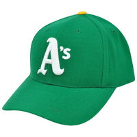 MLB Oakland Athletics Baseball Curved Bill Semi Constructed Fitted Hat Cap