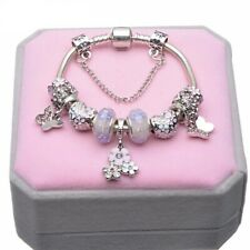 Purple Silver Plated Bracelet with charms by Pandora's Box