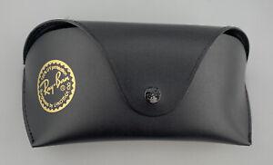 Ray-Ban Sunglasses Case Black Faux Leather Softcase Medium-Large Cracked