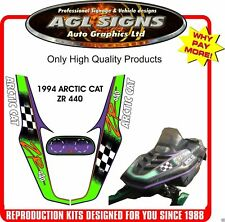 1994 Arctic Cat ZR 440 Reproduction Decal Kit    graphic Stickers