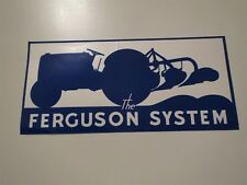 MASSEY FERGUSON TRACTORS THE FERGUSON SYSTEM BLUE AND WHITE 8 INCH DECAL NEW