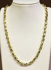 """necklace 6.5 Mm 40 grams 20"""" 10k Solid Yellow Gold Anchor Bullet chain"""
