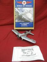 Vintage Wings of Texaco 1932 Northrop GAMMA Diecast Airplane Bank Mint w/ Box