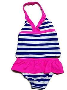 Osh Kosh Baby Girls 2pc Striped Tankini Swimsuit Size 6M 9M 18M 24M $32