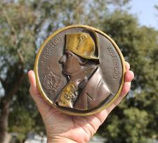 France, Emperor Napoleon medallion 158mm bronze