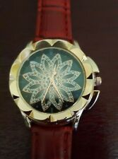 Ladies Rhinestone Crystal Large Faced Watch