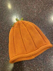 Gymboree Orange Pumpkin Sweater Knit Hat 2T-5T  nwot
