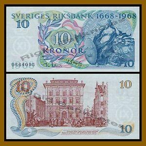 Sweden 10 Kronor, 1968 P-56 Unc