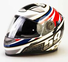 Viper Rs-v9 Uk59 Full Face Bike Crash Lid Track Racing Motorcycle Helmet Union Large