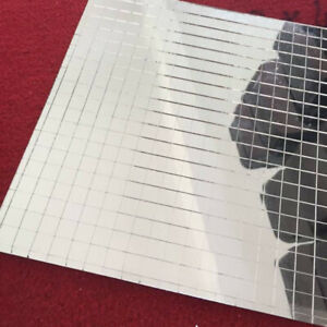 15X30cm Glass Mosaic Tile Self-adhesive Mini Square Mirror Sheet Home Deor DIY