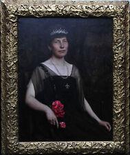 RALPH PEACOCK 1868-1946 BRITISH OIL PAINTING PORTRAIT ART LADY EDWARDIAN