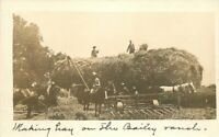 C-1910 Hay Scene Bailey Ranch RPPC Photo Postcard Oklahoma 11385