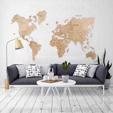 Wall World Map Wood Wall Art Wooden Travel Map Living Room Home Decor World Map