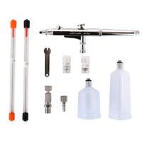 Airbrush Pen Dual Action Gravity Feed Spray Gun Kit Painting 0.2mm 0.3mm 0.5mm
