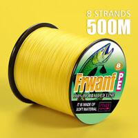 Braided fishing line 8 strands 300m Strong Japan Multifilament PE braid Qua Q0Q7