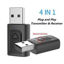 Cle Usb Bluetooth V5.0 Mini Adapateur 4 en 1 Dongle Sans Fil pour PC