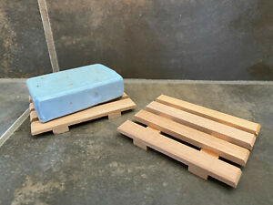 1 Spanish cedar wood soap dish - proudly handmade in the USA