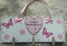 IDEAL CHRISTMAS GIFT-  PERSONALISED - GIRLS MASTERPIECE ART HOLDER - GORGEOUS!**