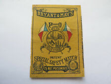 BRYANT & MAY'S P & O PACIFIC & ORIENT SHIPPING MATCHES MATCH BOX LABEL c1900