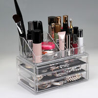 Clear Acrylic Cosmetic Makeup Case Holder Display Stand Storage Organizer Box