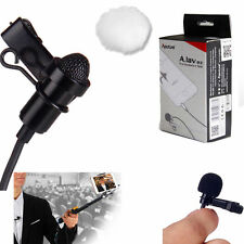 High quality A.lav ez Clip-on Microphone 3.5mm Mic for iphone IOS Android W/Bag