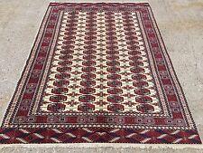 Persian Handmade Bokhara Turkmen carpet, Rug wool 210x150cm