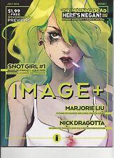 IMAGE PLUS #1 WALKING DEAD HERE'S NEGAN ORIGIN STORY 1st Print