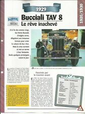 Automobile plug-bUCCIALI tav 8 1929-technical information-car auto
