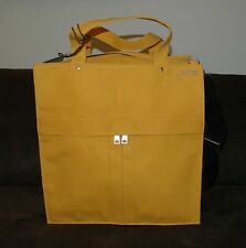 Jack Spade builders cloth provision bag tote expandable yellow 4 travel beach bn