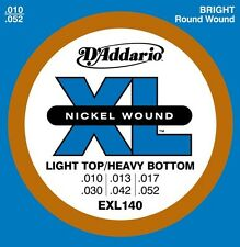 10 Pack! D'Addario EXL140 Bright Round Wound 10-52 Electric Guitar Strings