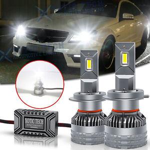 For Mercede Benz C S CL Class 6500K H7 LED Headlight High Beam Error Free Bulbs