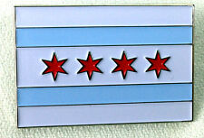 "City of Chicago Flag 1.5"" Soft Enamel Pin - FREE Shipping!"