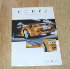 Vauxhall Astra G Coupe Irmsher Accessory Brochure 2001