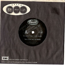 """THE STEVE MILLER BAND - NOBODY BUT YOU BABY - RARE PROMO 7"""" 45 RECORD 1986"""